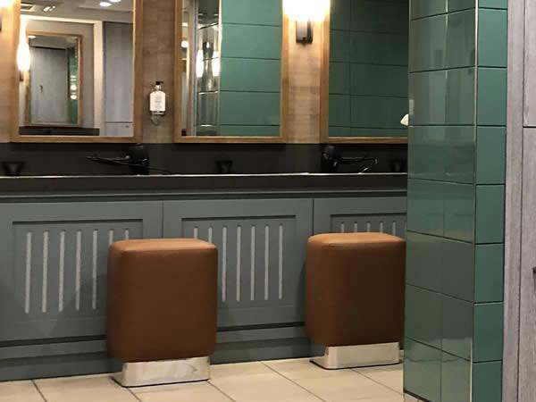Golf lockers and furnature - golf club vanity station - crown sports lockers