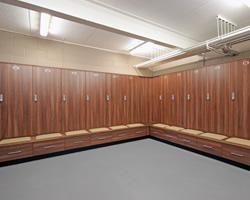 leisure - football clubs locker room - crown sports lockers