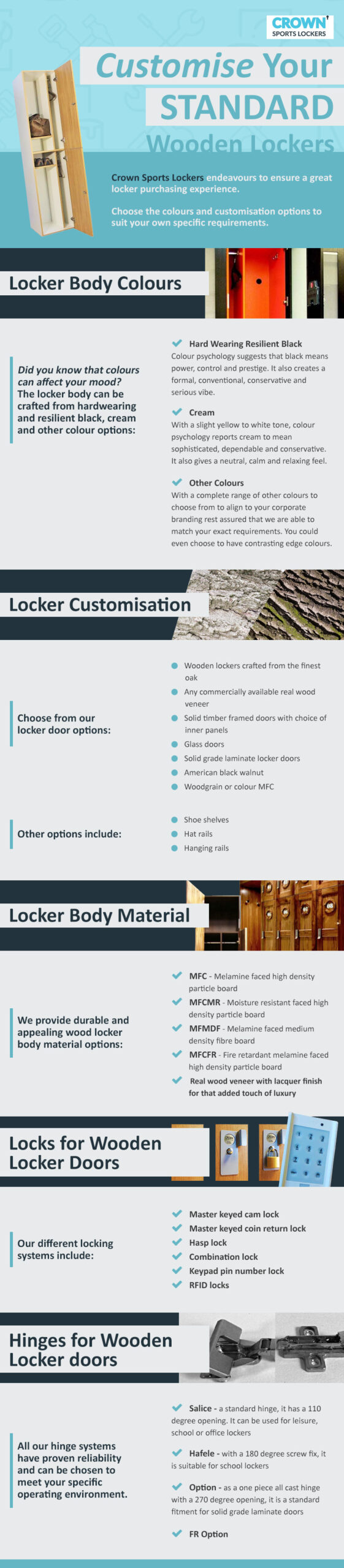 Customise Your Standard Wooden Lockers