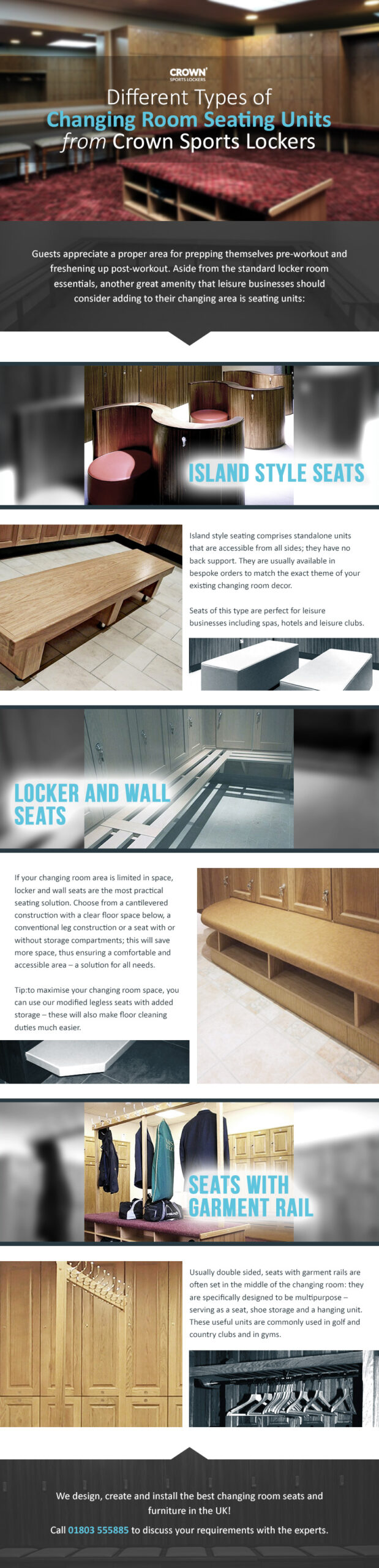 changing room seating units