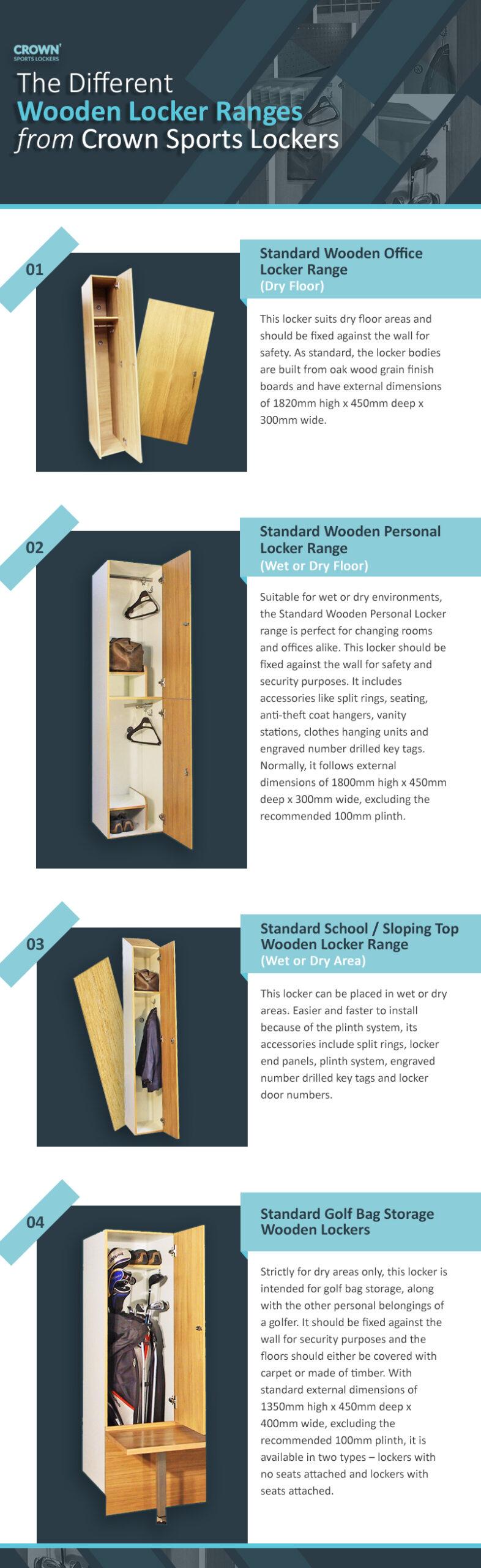 Crown Sports Lockers - Different Wooden Locker Range Revised