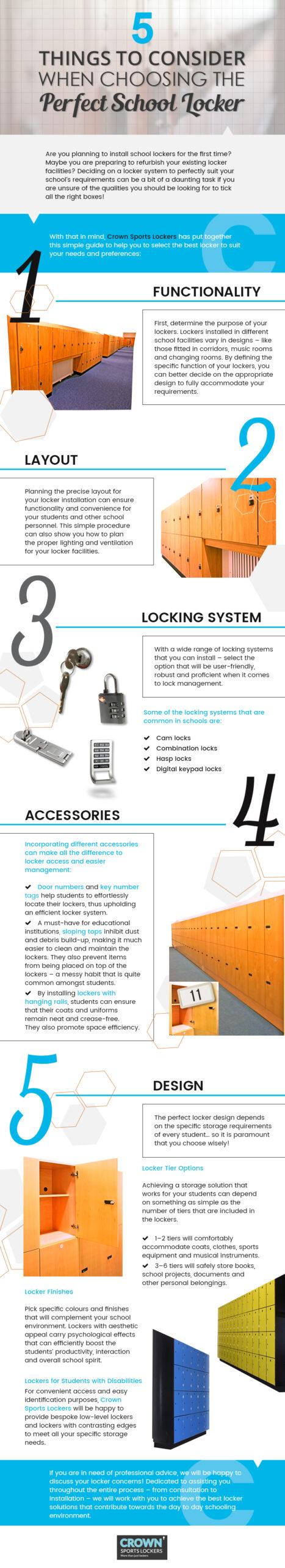 things to consider when choosing school lockers