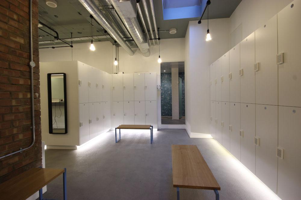 Cycle Studio - Lockers Lighting and Seating - Crown Sports Lockers