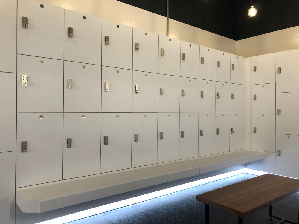 Cycle Studio - Lockers and Lit Bench Seating - Crown Sports Lockers