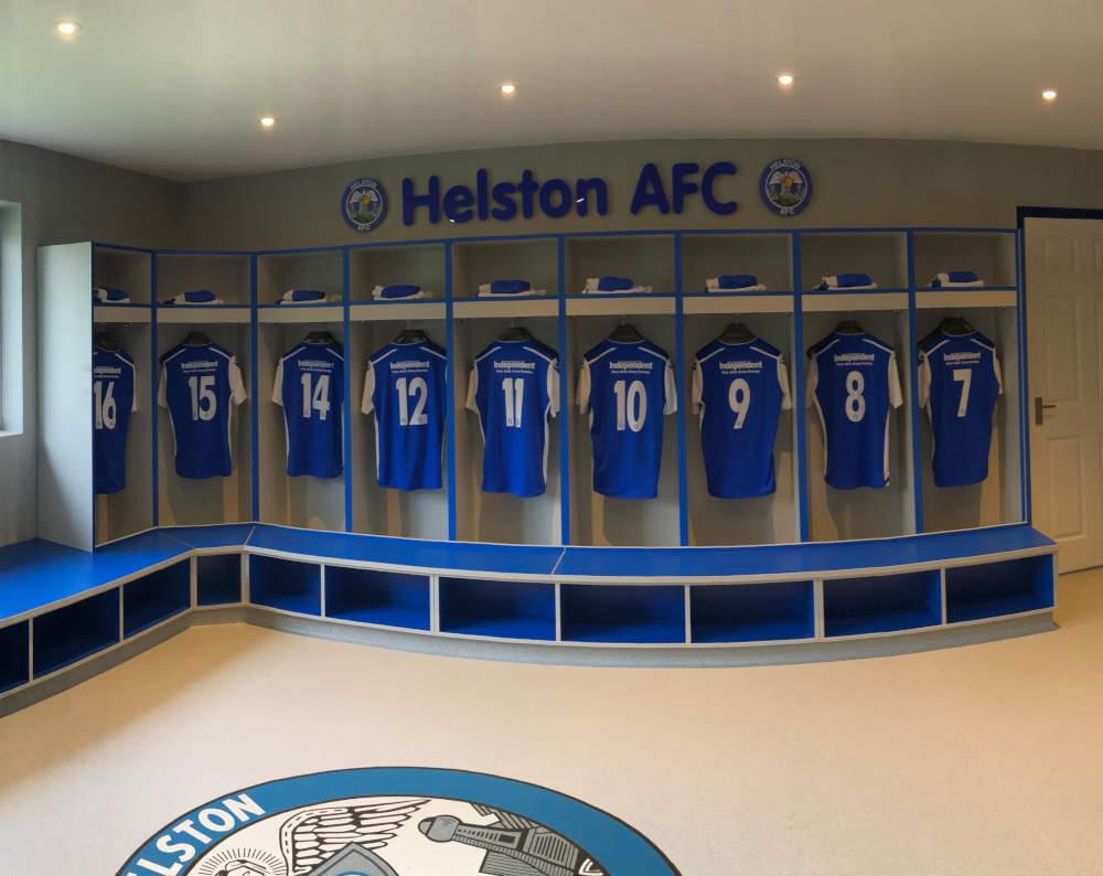 Football Changing Room - Helston FC Locker Room - Crown Sports Lockers