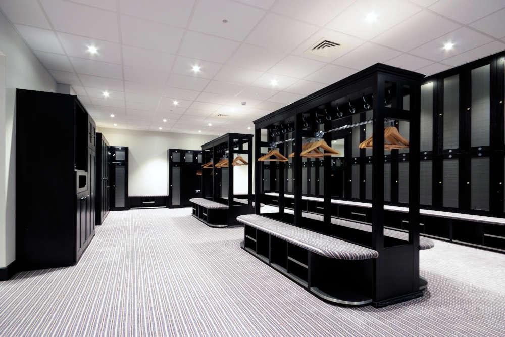 Golf Lockers - White Grey and Black Locker Room - Crown Sports Lockers