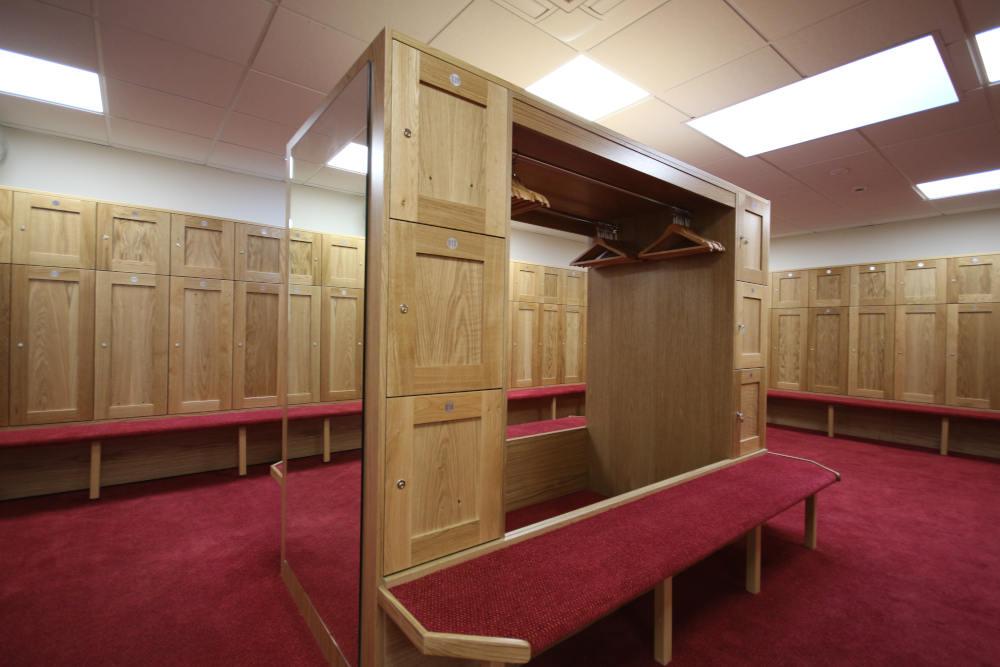 Golf Lockers - Wooden Locker Room - Crown Sports Lockers
