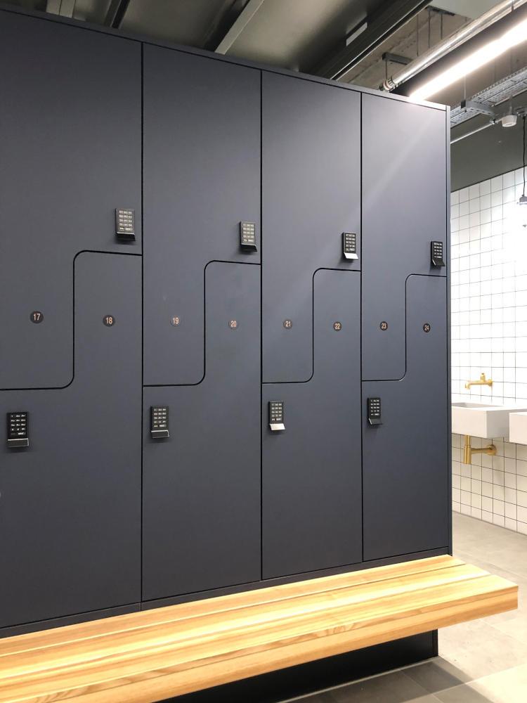 Gyms Gallery Lockers - Black Keypad Lockers - Crown Sports Lockers