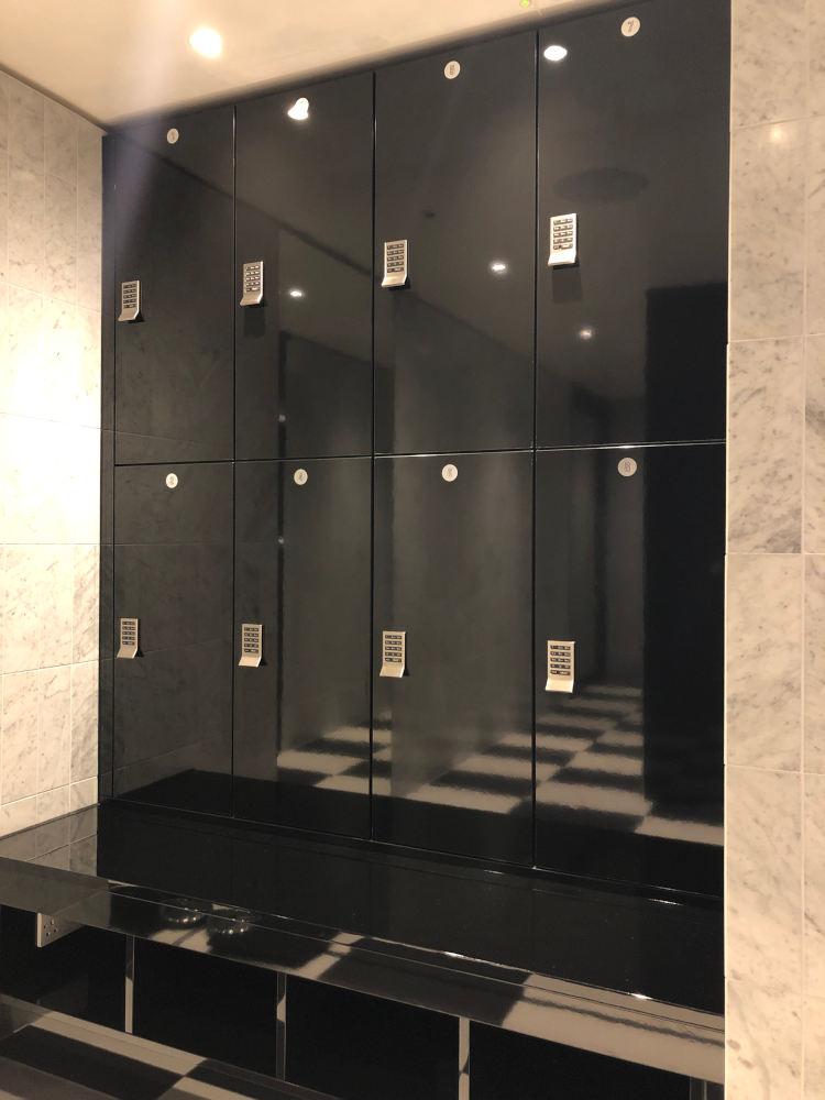 Gyms Gallery Lockers - Glossy Black Lockers- Crown Sports Lockers