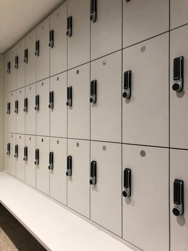 Gym Lockers - Silver Keypad Lockers - Crown Sports Lockers