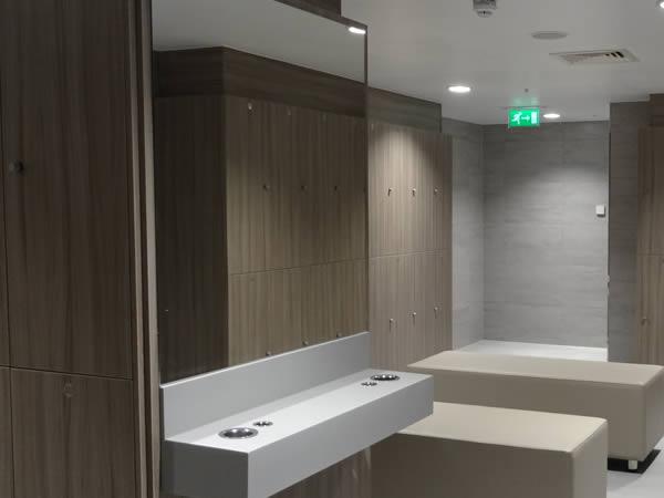 Gym lockers - Gym locker rooms - vanity unit - crown-sports-lockers