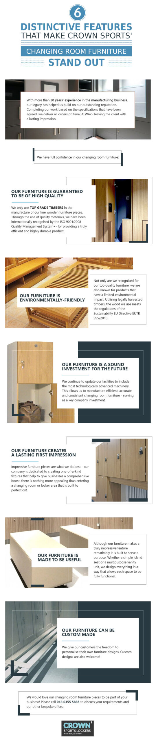 distinctibe features of our changing room furniture