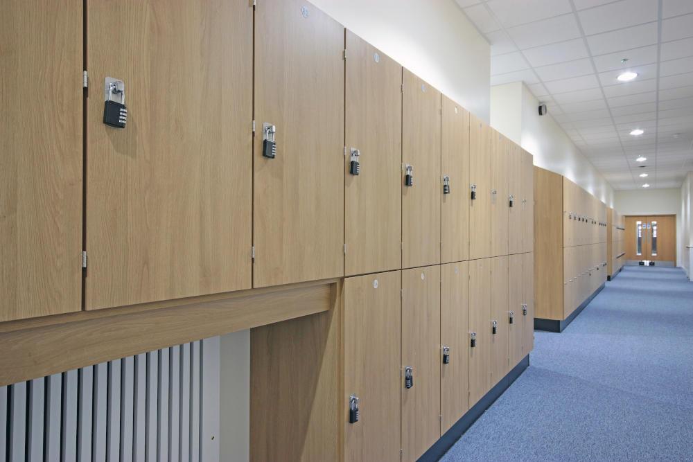School Lockers - Hallway of Lockers - Crown Sports Lockers