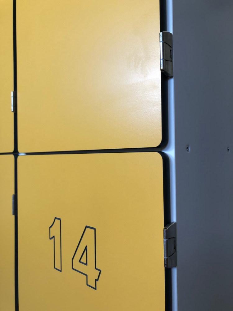 Swimming Pool Gallery Changing Rooms - Numbered Waterproof Locker - Crown Sports Lockers