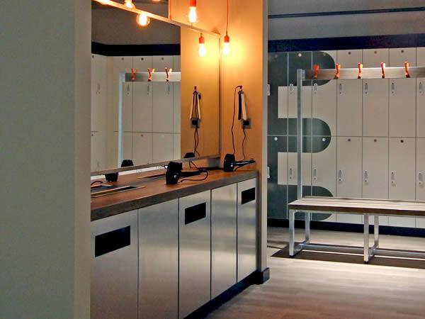 cycle studio - spin studio - vanity station - crown-sports-lockers