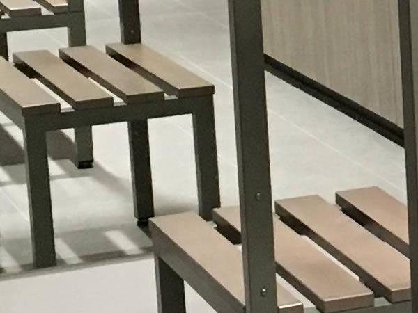 office lockers - staff lockers - staff room lockers - wooden office lockers - bench seating - crown-sports-lockers