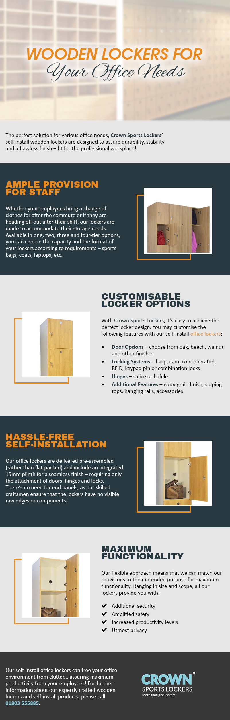 Wooden Lockers for Your Office Needs