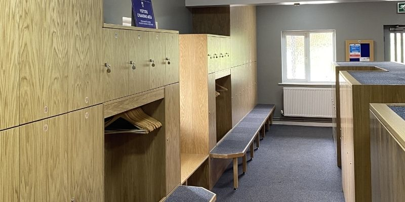 Flixton Golf Club: Image of the changing room at the golf club.
